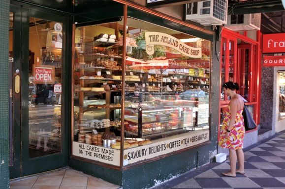 A cake shop on Acland Street in Melbourne, Australia...one of my