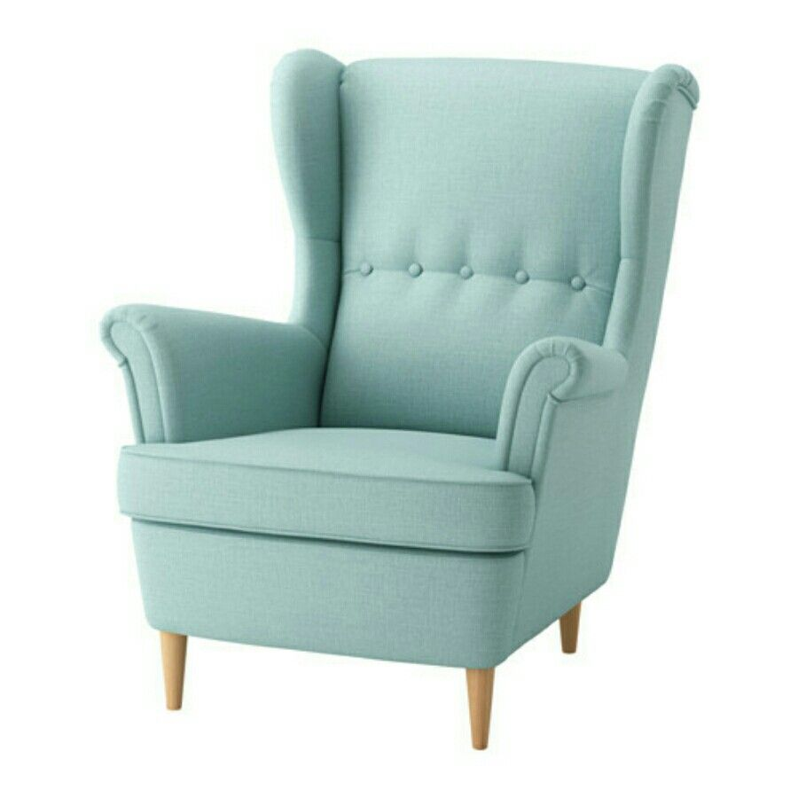 ikea strandmon wing chair skiftebo light turquoise you can really loosen up and relax in comfort because the high back on this chair provides extra