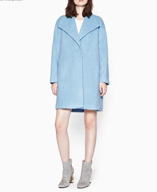Loose Fit Tailored Collar Overcoat - Tops - Clothing
