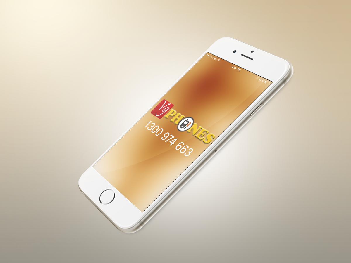 iPhone 6 mock up VG Phones logo Iphone screen repair