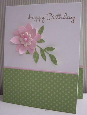 Like the green polka dot paper w/ pink combo. Nice card.