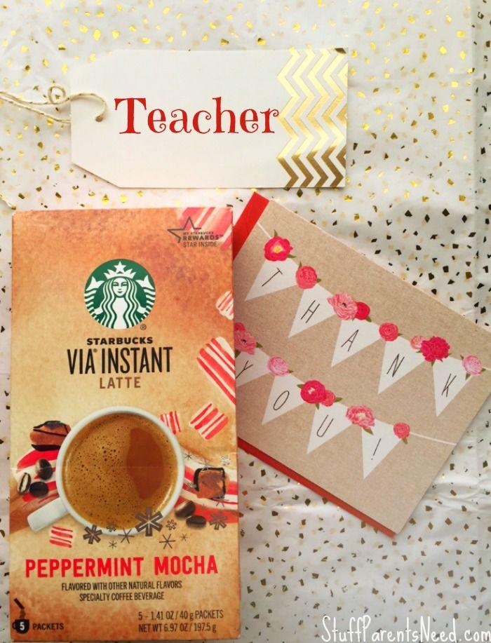 Super Easy Gift Ideas for Teachers: Starbucks for the Win ...