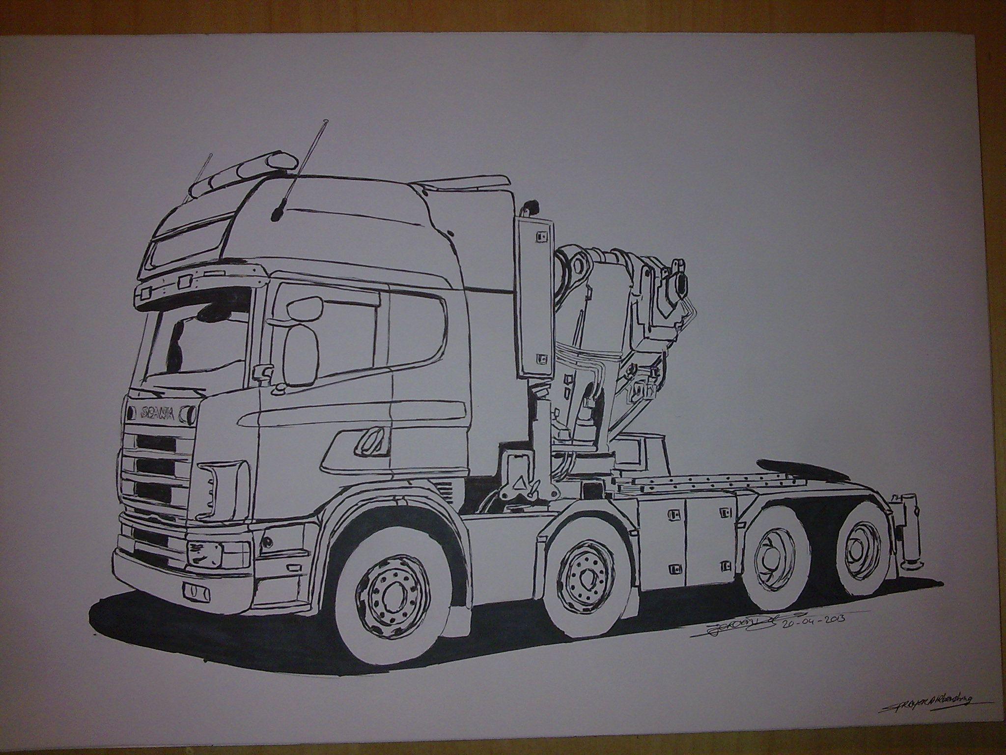 Pin Van Alyapin Gennadij Op Gruzovik Voor Kinderen Truck Kleurplaten