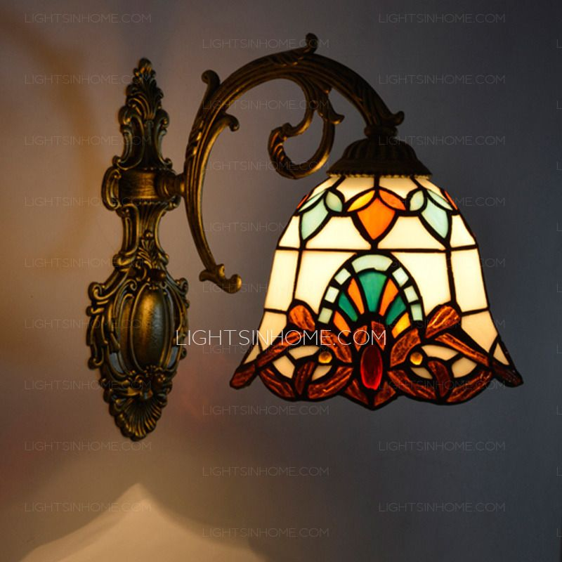 Shabby Chic Small Downlight Tiffany Wall Sconces For Entryway