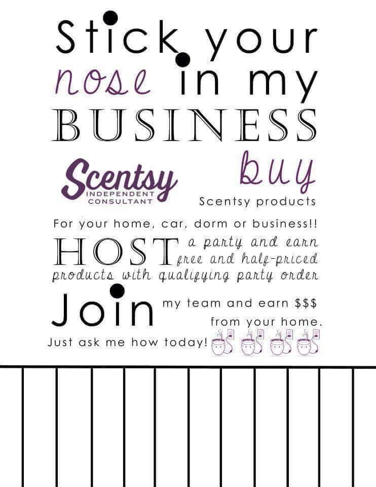 Scentsy Flyer Idea New to the Neighborhood Neighbors