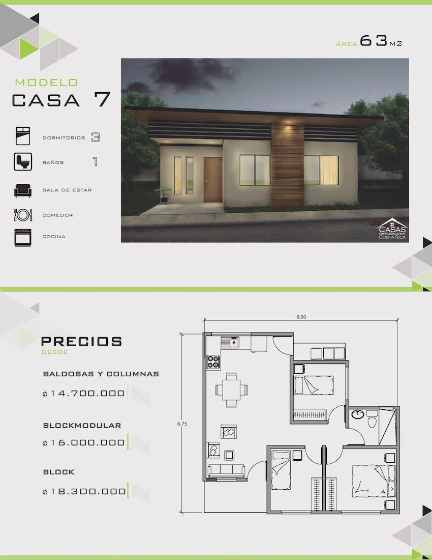 Modelos y dise os de casas de un piso costa rica casas y for Modelos de casas pequenas de 2 pisos