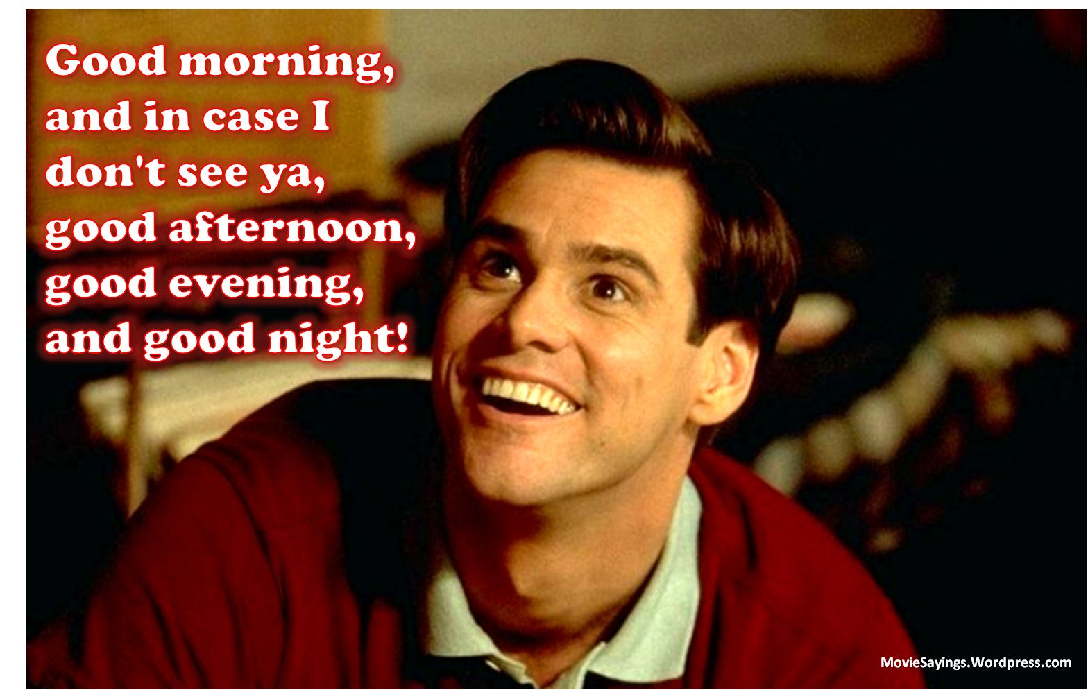 Great Movie Quotes funny movie quotes | Truman: Good morning, and in case I don't see  Great Movie Quotes