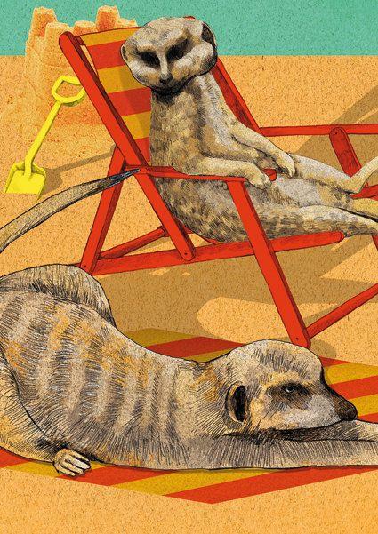 Zoo  Summer Meerkats by ElineJetten on Etsy, €45.00