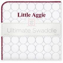 Ultimate Swaddle Blanket - Texas A&M University #TeamSpirit #MadeinUSA #MadeinAmerica #SoftUScottonFlannel #BabyGift #Nursery #BabyBlanket