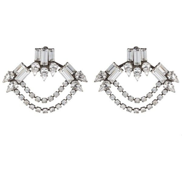 DANNIJO Gayla ($139) ❤ liked on Polyvore featuring jewelry, earrings, pearl stud earrings, stud earrings, studded jewelry, dannijo earrings and pearl earrings
