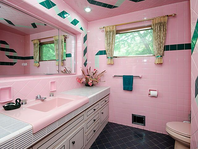 Great You Guys Enjoyed The Pink Mid Century Bathrooms In Australia Post So Much,  I Thought