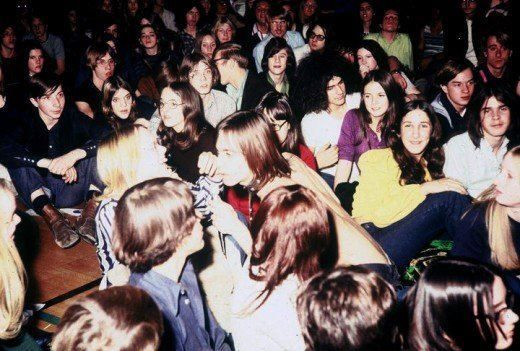 Iggy and the Stooges at Farmington High School, Michigan.  1970
