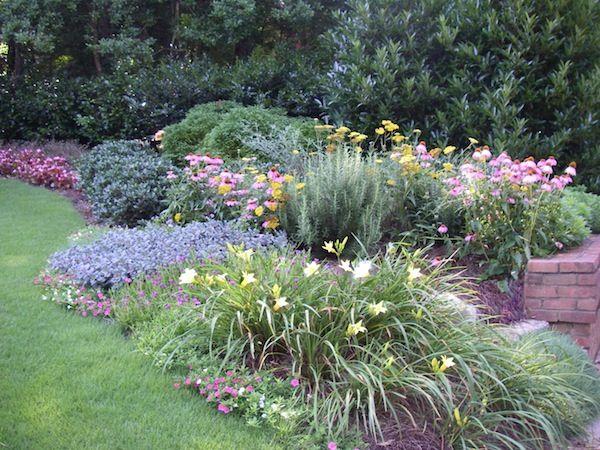 Perennials Add Pizazz To Small Front Yard Marietta Ga Metro Atlanta Perennial Garden Design Front Yard Landscaping Design Low Maintenance Landscaping Front Yard