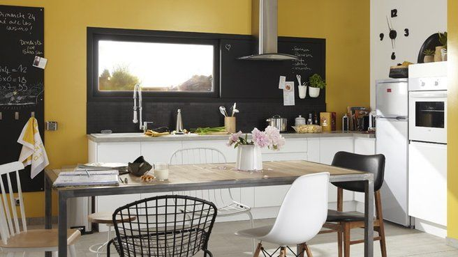 cuisine jaune moutarde leroy merlin id es pour la maison pinterest pantone kitchens and. Black Bedroom Furniture Sets. Home Design Ideas
