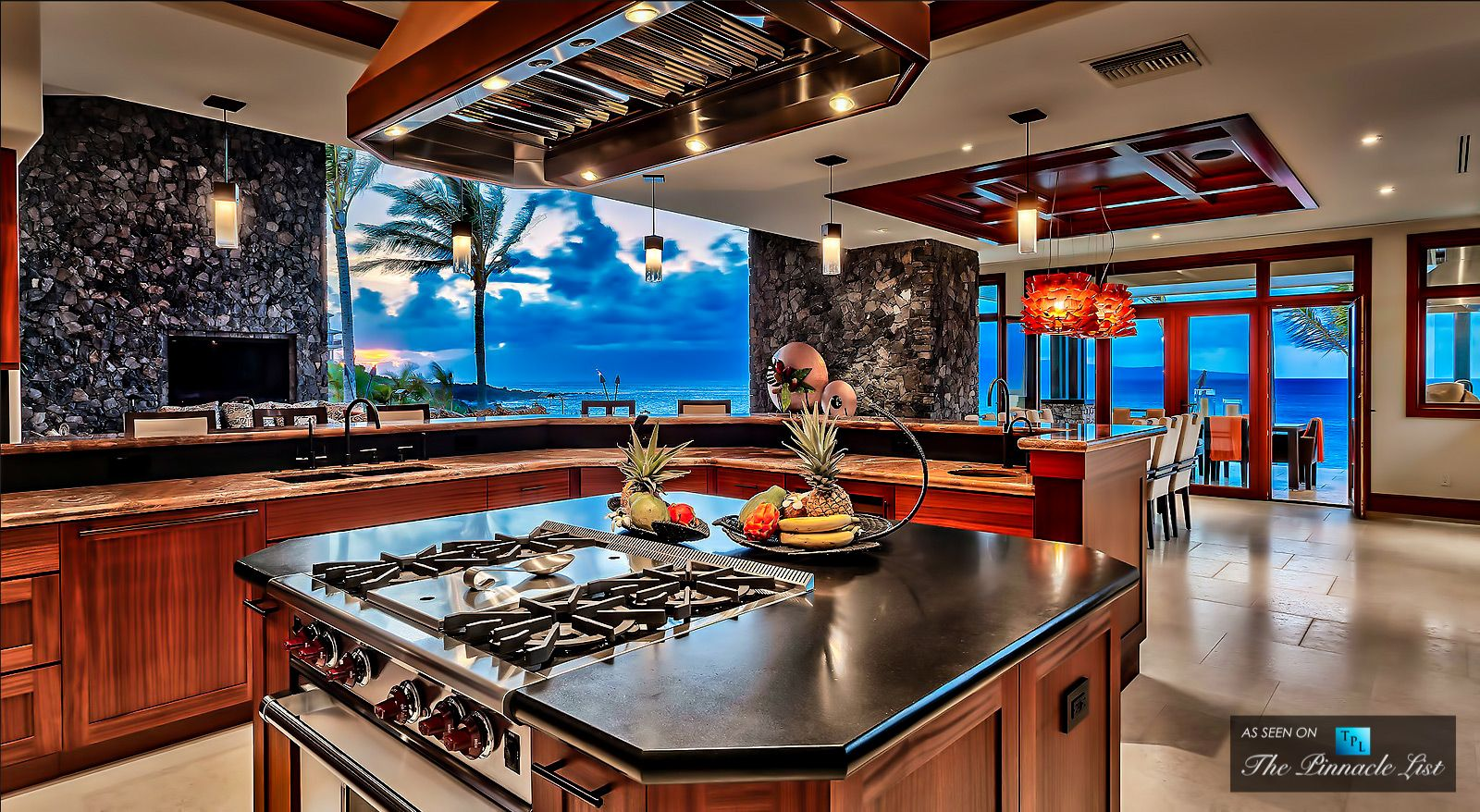 This Luxurious Resort Style Beach House Is Located In Maui Hawaii Showcasing Open And Spacious Interiors That Connects Beautifully To The Outdoors