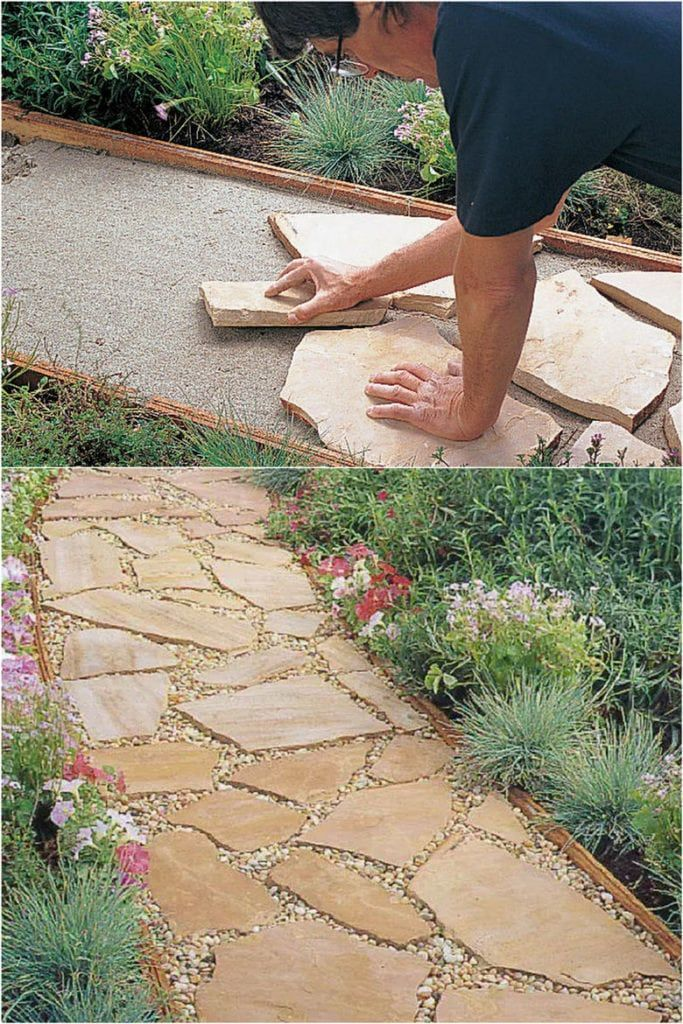 25 beautiful garden path ideas & pro landscape design tips on easy DIY backyard walkways with gravel, brick, stepping stones, wood, pavers, or even mulch! – A Piece of Rainbow #diy #backyard #homestead #homesteading #urbangardening #outdoorprojects homestead, homesteading, outdoor projects, landscaping, gardening, curb appeal, #gardendesign #landscaping #gardenpath #gardens #gardening #curbappeal