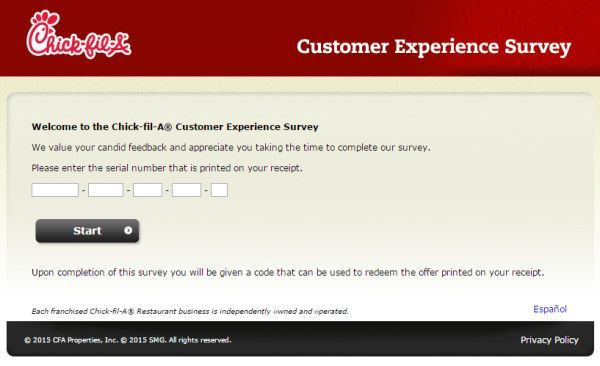 Mycfavisit - Chick-fil-A Customer satisfaction survey comes first - satisfaction survey