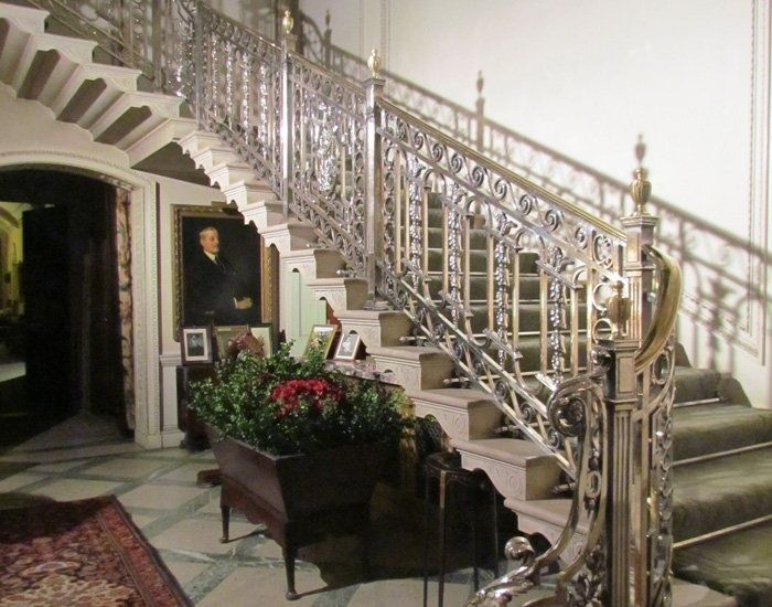 The silver staircase at Manderston, an Edwardian country house in
