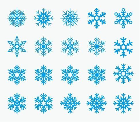 vectores_copos_nieve … | Copos de nieve | Pinte…