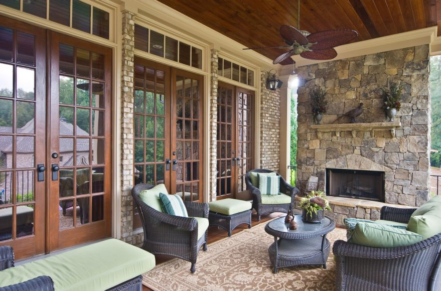 Beautiful Outside Living Space. Love The Big Windows With Wood Trim And  Black Hardware.