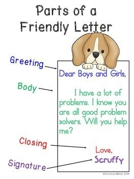 Letter Writing Unit  Anchor Charts Friendly Letter And School