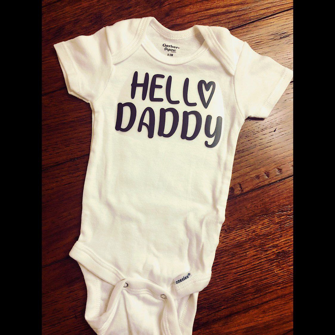 9dbe4bae4 ... my #etsy shop: Hello Daddy - baby reveal onesie - pregnancy announcement  to husband - new dad reveal onesie - announcement onesie - new dad gift -  hello