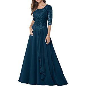milano bride elegant damen chiffon spitze brautmutter kleider abendkleider festkleider lang mit