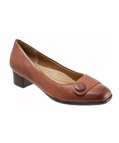 Brick Dionne Leather Kitten Heel #zulilyfinds