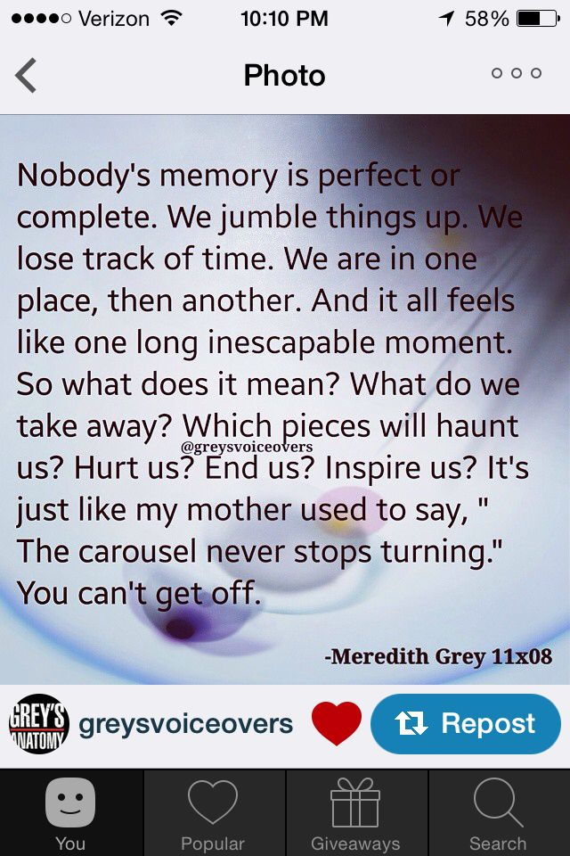 Greys anatomy quote season 11 | Greys Anatomy | Pinterest | Grey ...
