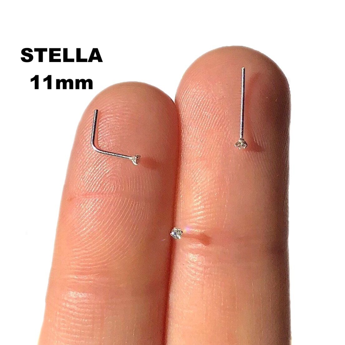 Tiny Nose Stud 1mm 22 Gauge Silver Nose Stud Nose Ring Small L