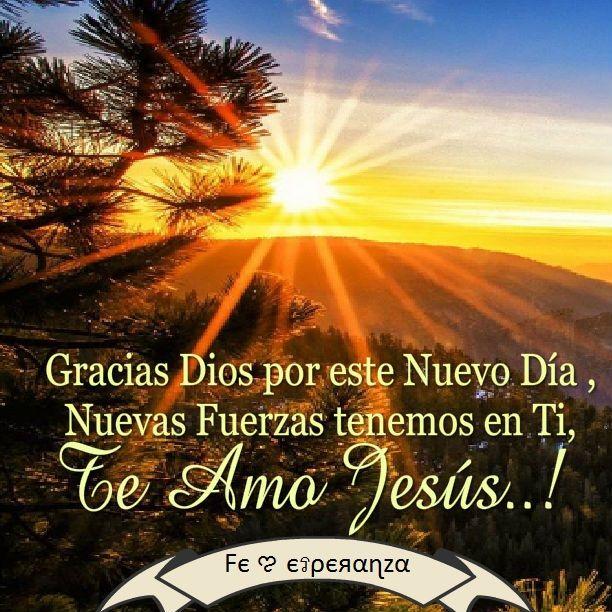 Gracias Dios Por Este Nuevo Dia Nuevas Fuerzas Tenemos En Ti Somos Renovados Los Que Confiamos En Ti Senor Te Amo Jesus