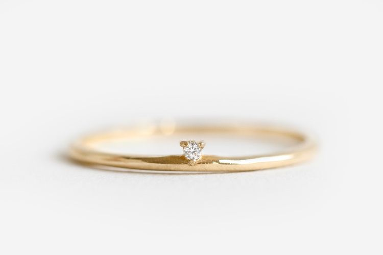 Simple And Streamlined These Solid 10 Karat Gold Rings Are A Modern Take On A Classic Diamond Band Ridged With Con Vintage Engagement Rings Sapphire