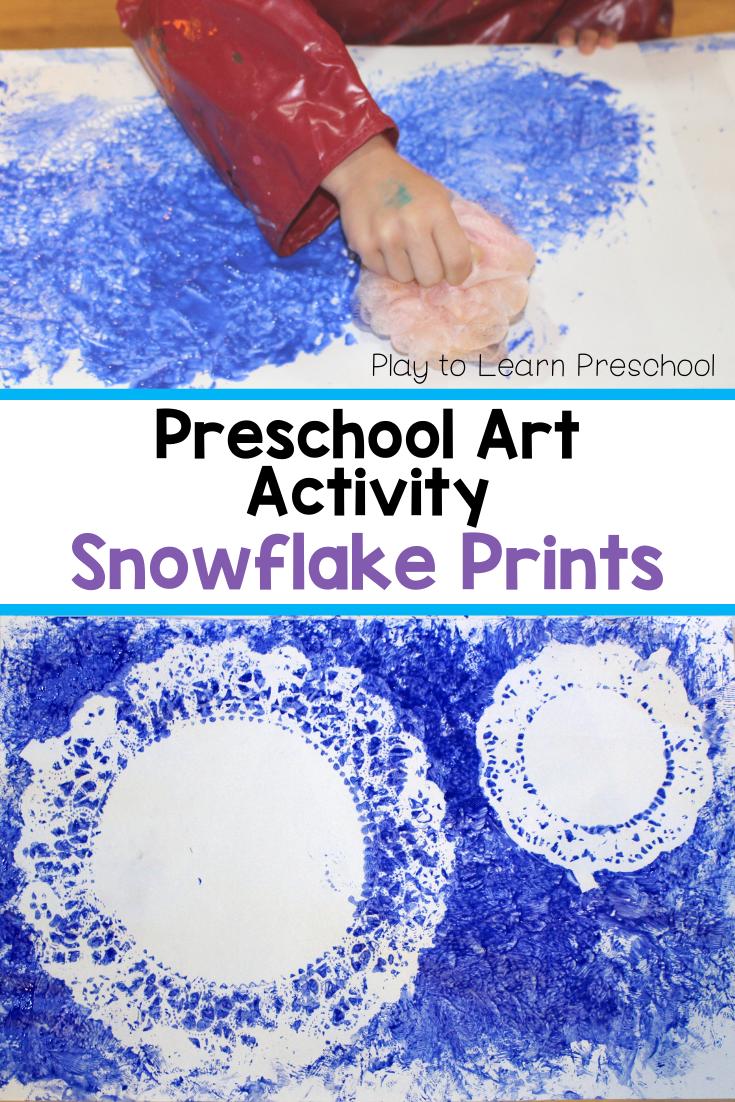 Snowflake Process Art for Preschoolers