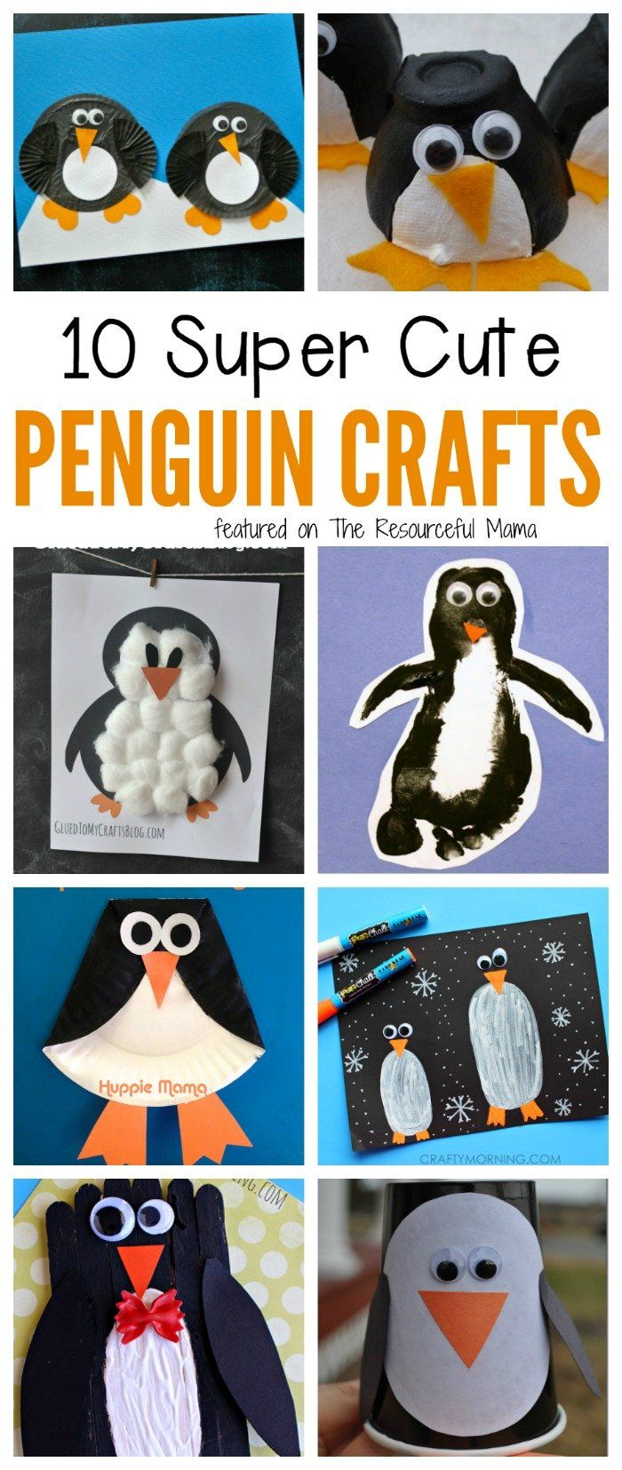 Top Ten Penguin Crafts for Kids