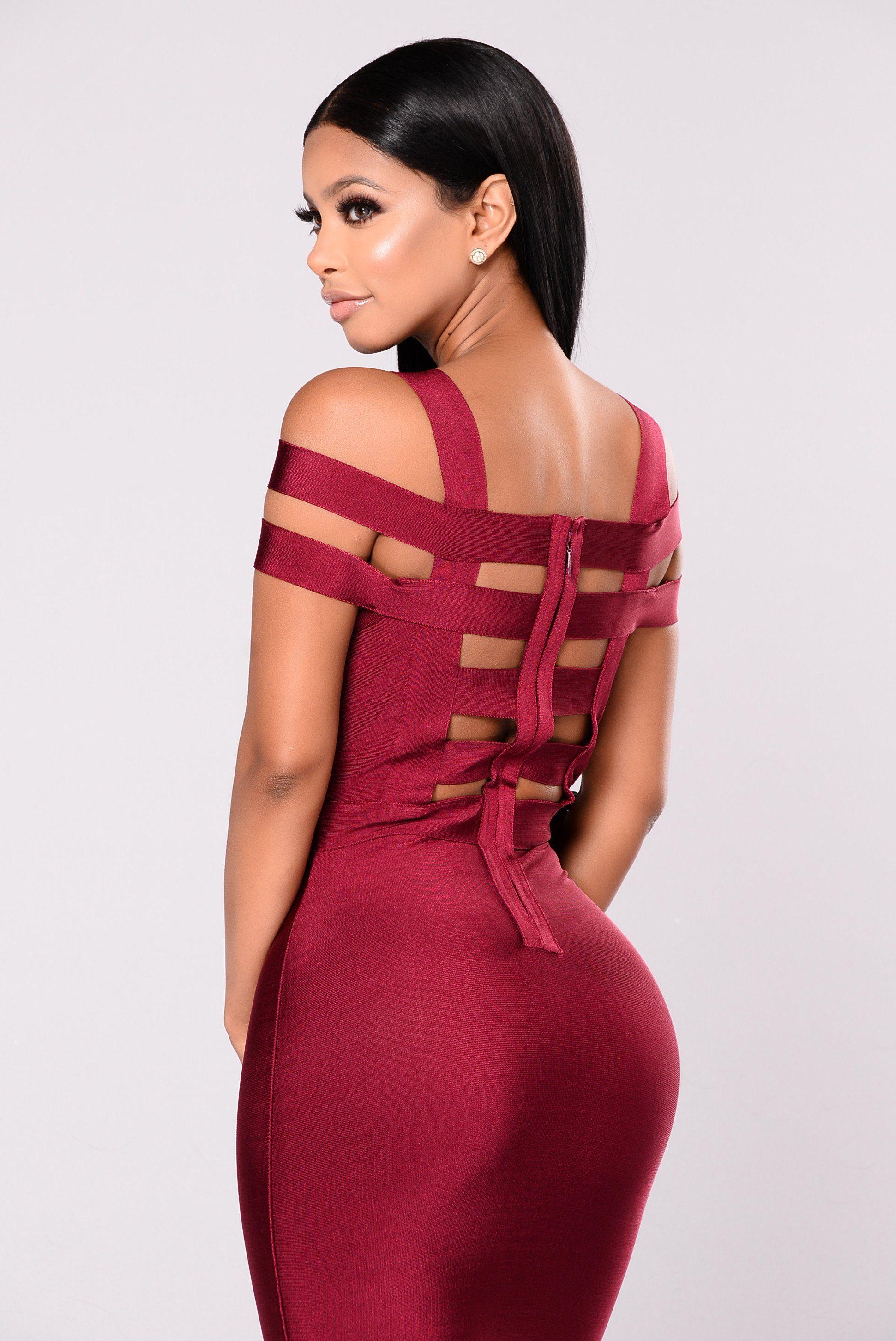 84c9888deaef5 Devi Bandage Dress - Merlot   Fashion Nova   Dresses, Work dresses ...