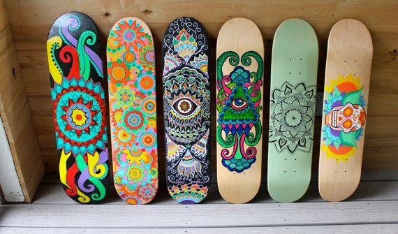 Cool Painted Skateboard Decks