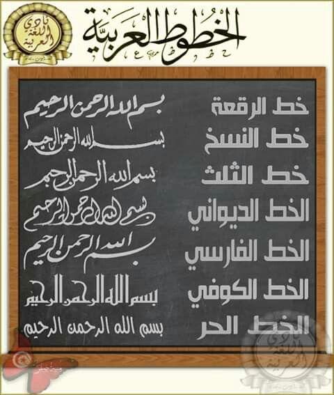 أنواع الخط العربي تتعدد أنواع الخط العربي وتصل إلى عشرات الأنواع والأنواع الأسا Islamic Phrases Learning Arabic Psychology Fun Facts