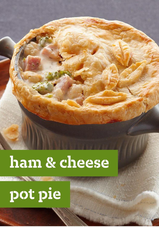 Ham Pot Pie With Cheese And Veggies Recipe Recipes Pot Pies Recipes Kraft Recipes
