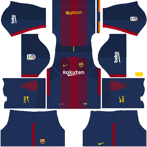 Dream League Soccer Kits Barcelona 2017-2018 FREE {Kits & Logo