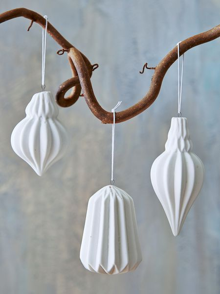geometric porcelain tree ornaments - nordic house More - Christmas Decorations From Nordic House Christmas Decorations