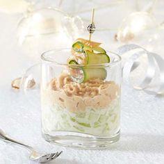 Glaasje met zalmmousse en komkommer - Colruyt Culinair !