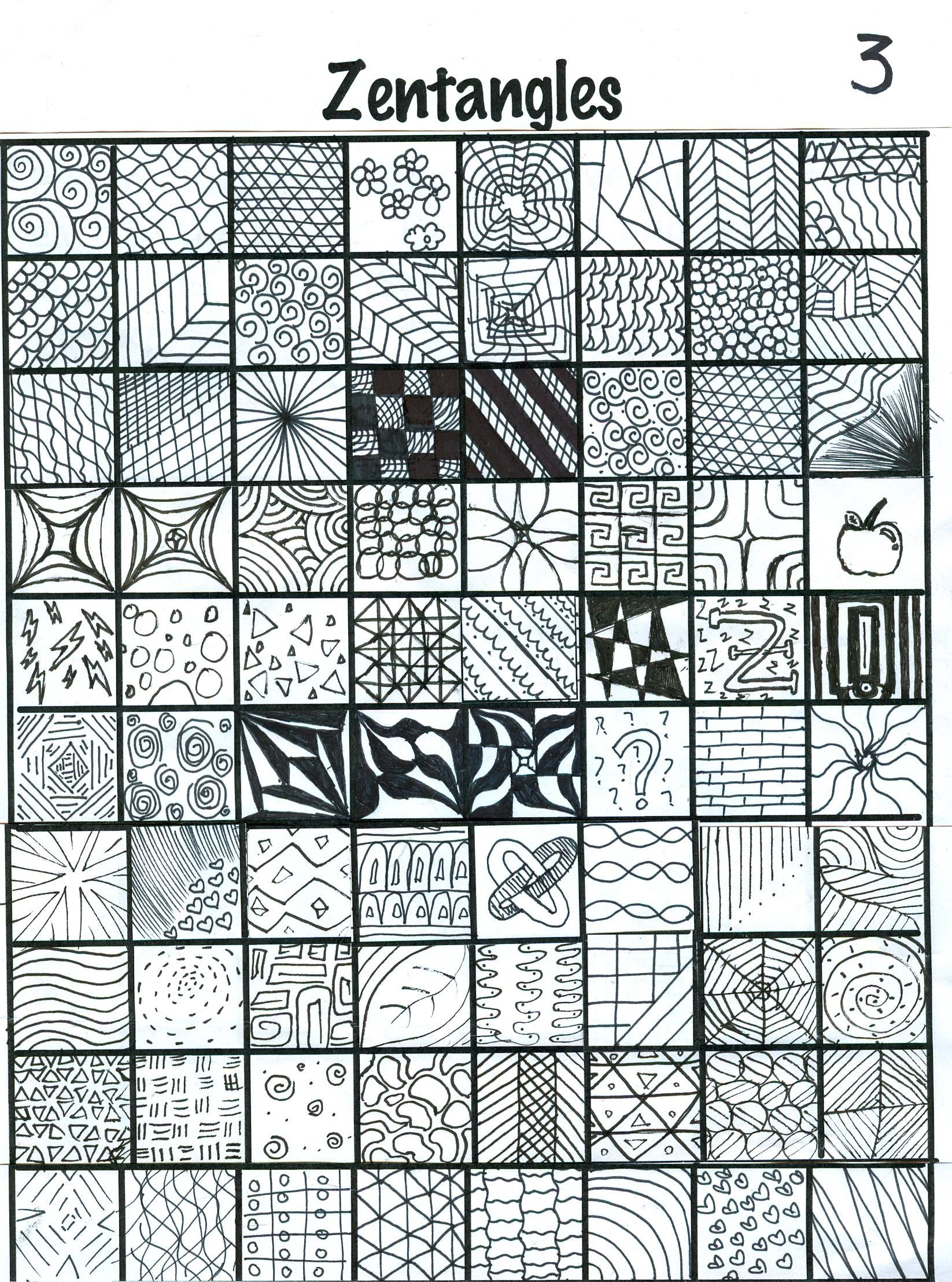 Student generated zentangles 3