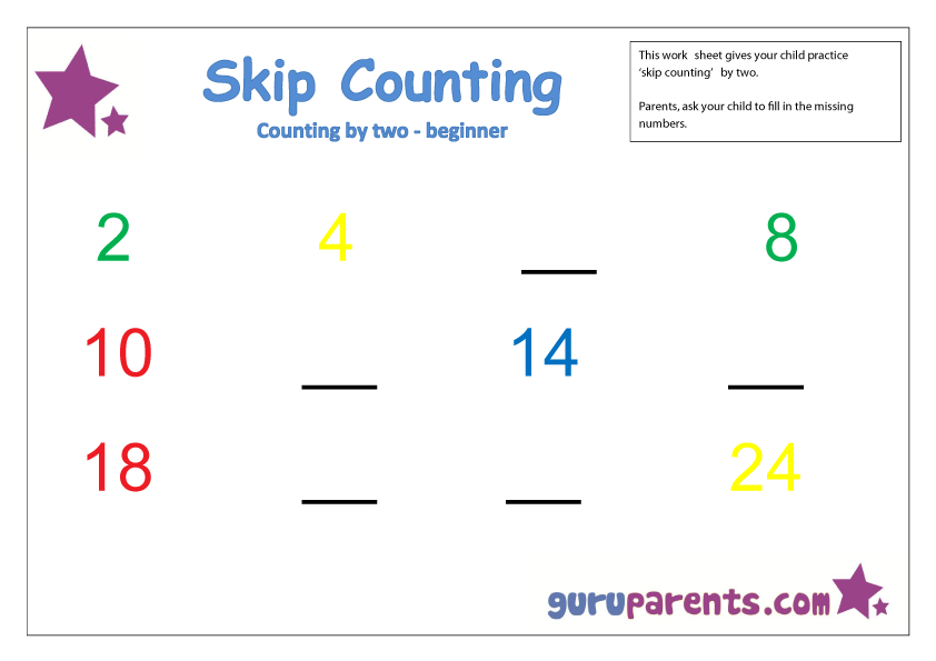 Skip Counting By Two Beginner Free Worksheets Cc Cycle 3 Week 1