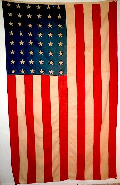Authentic American Ww Ii Military 48 Star Flag Circa 1940 1943 Usa Flag Military Collectibles For Sale On Ruby 48 Star Flag Celebration Quotes Funny Design