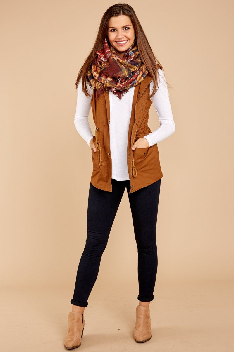 Chilly Nights Coffee Brown Vest