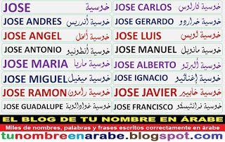Plantillas De Tatuajes Arabes De Nombres J Nombres En Arabe