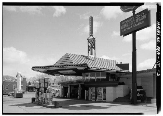 Frank Lloyd Wright's Gas Station.