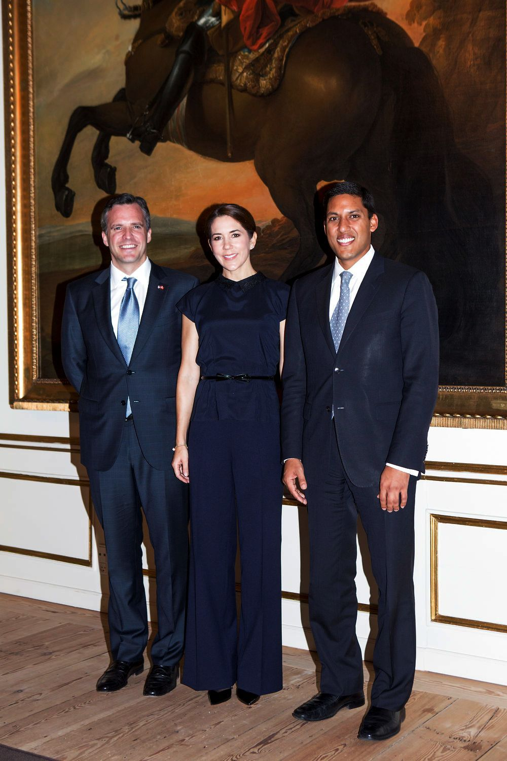 Crown Princess Mary receives the Administrator of USAID, Dr. Rajiv Shah at Frederik VIII Palace 11/18/2013