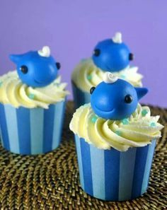 narwhal cupcakes