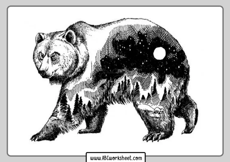 Grizzly Bear Coloring Pages | Bear coloring pages, Animal ...